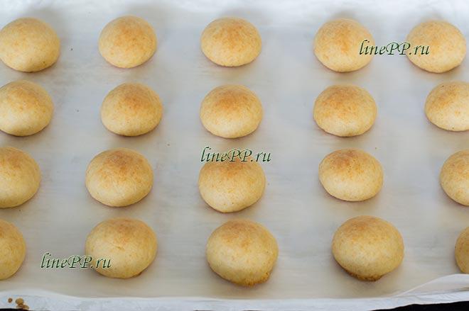 ПП печенье из рисовой муки на пергаменте