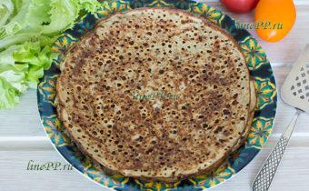 Пшённые блины рецепт без дрожжей и без пшеничной муки - ПП