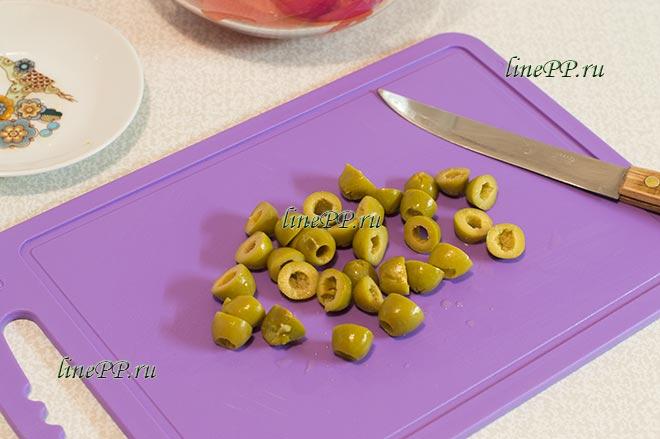 Салат из помидоров и оливок ПП рецепт