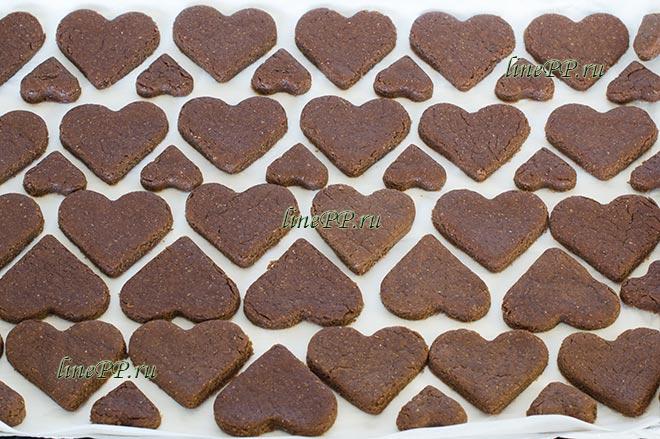 Шоколадное печенье диетическое