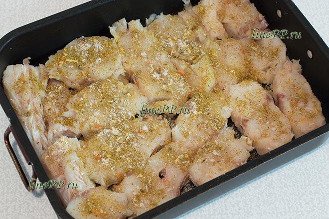 Рыба запеченная в кефире в духовке