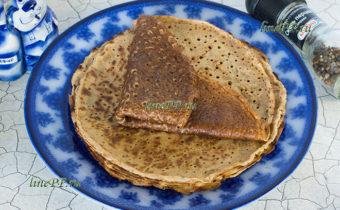 Овсяные блины ПП рецепт на овсяном молоке без яиц (постные, веганские) с дырочками