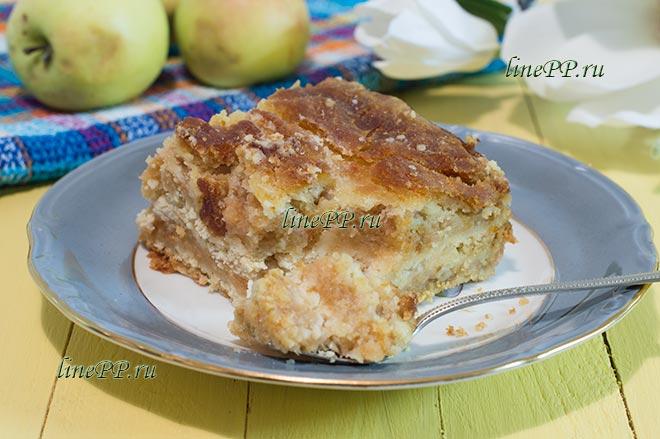 Насыпной яблочный пирог ПП