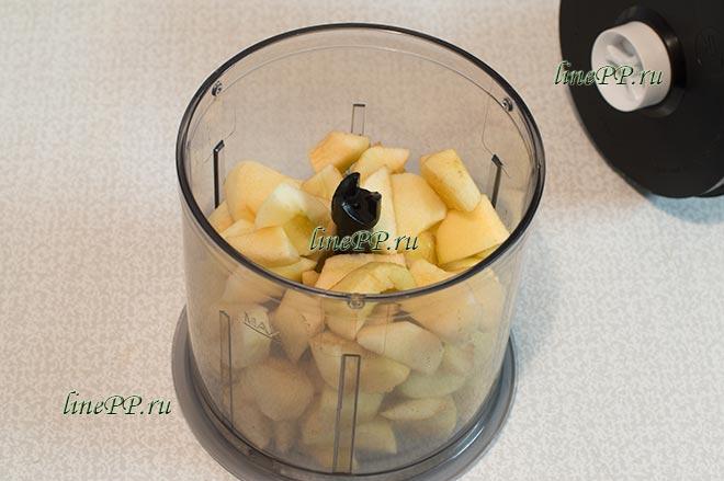 Яблоки блендером