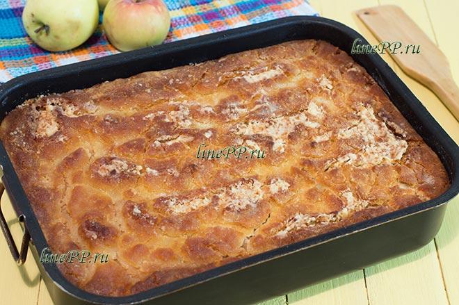 Насыпной пирог с яблоками ПП – яблочный диетический рецепт с фото