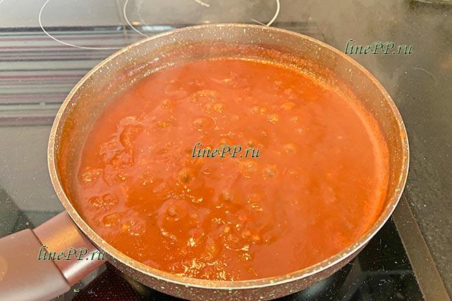 Уваривание соуса