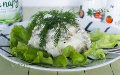 Салат со стручковой фасолью и яйцом диетический