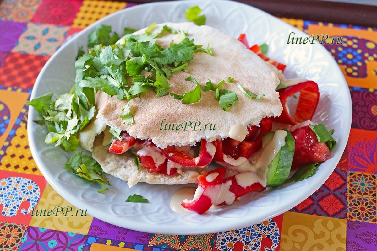 Салат в пите рецепт ПП