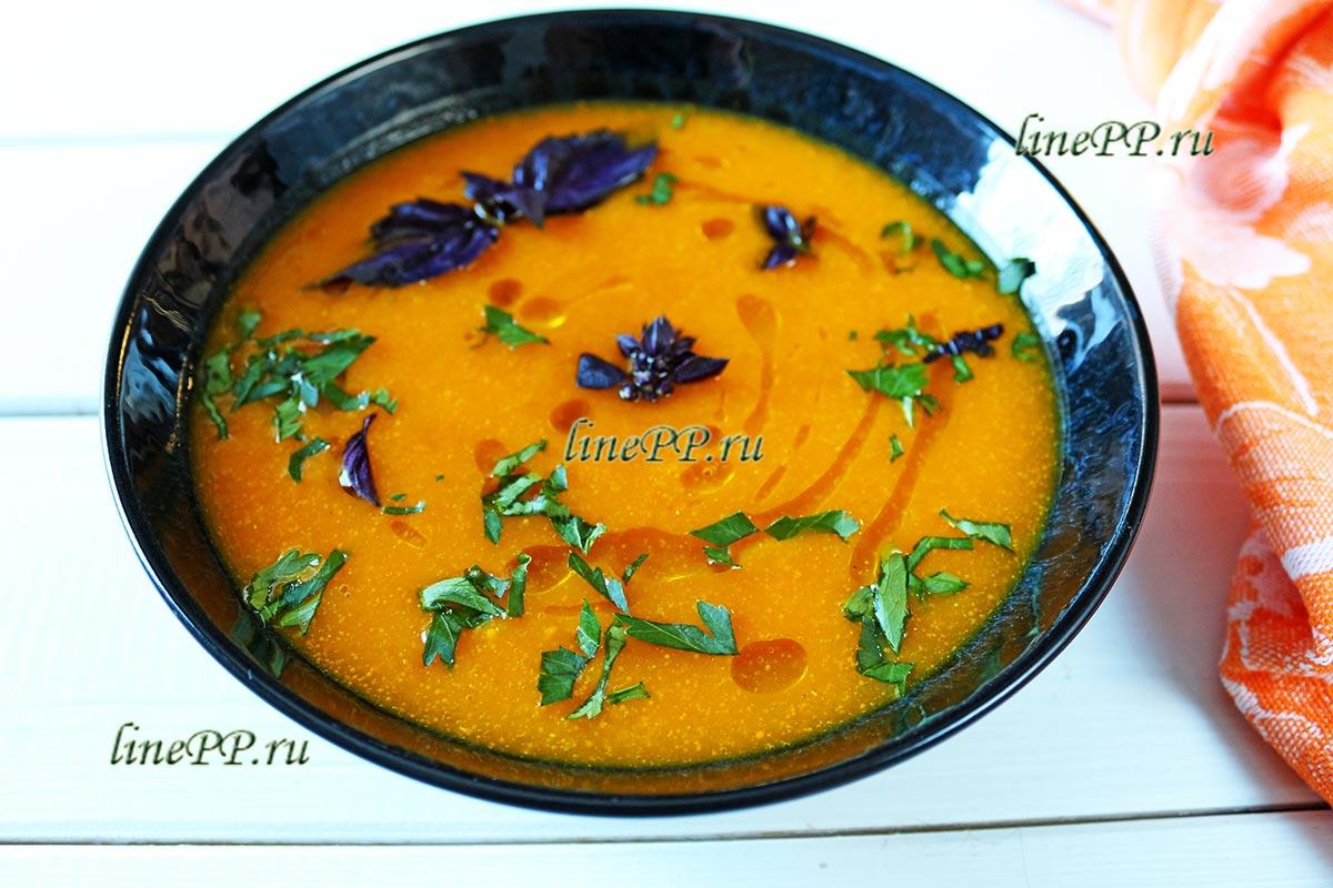 Суп-пюре из тыквы на курином бульоне